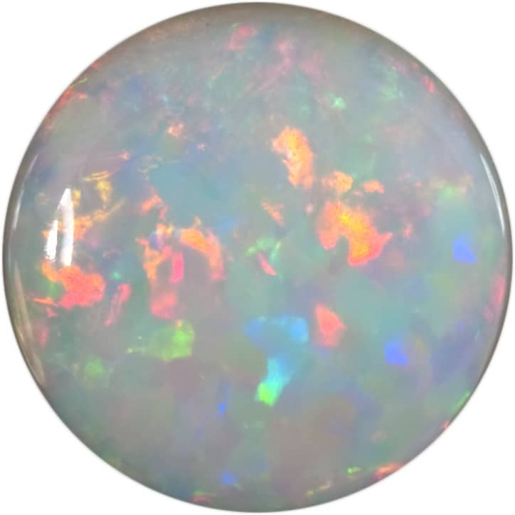 Opal White_Rd. 6mm.Cab.AAA_0.48ct